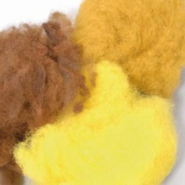 Wolle zum Filzen gelb Mix 50 g