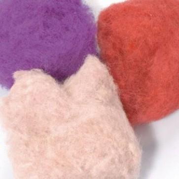 Wolle zum Filzen rosa Mix 50 g