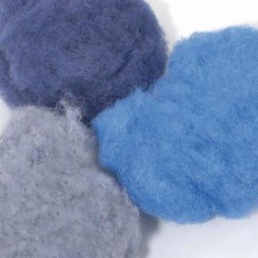 Wolle zum Filzen blau Mix 50 g