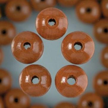 Holzperlen hellbraun Bohr ø 1,5 mm 4 mm 165 Stk.