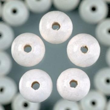 Holzperlen weiß Bohr ø 2,0 mm 6 mm 125 Stk.