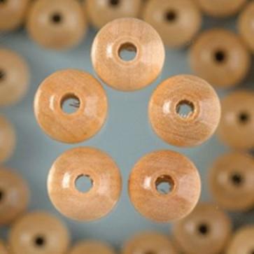 Holzperlen natur Bohr ø 2,0 mm 6 mm 125 Stk.