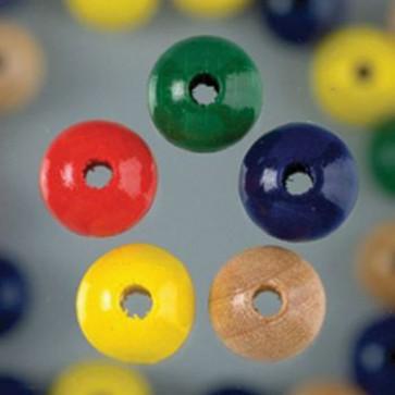 Holzperlen farbig sortiert Bohr ø 2,3 mm 8 mm 90 Stk.
