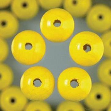Holzperlen gelb Bohr ø 2,5 mm 10 mm 60 Stk.