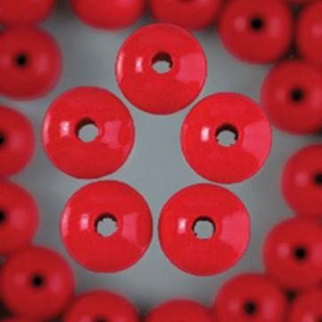 Holzperlen rot Bohr ø 2,5 mm 10 mm 60 Stk.