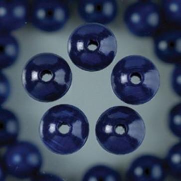 Holzperlen blau Bohr ø 3,0 mm 12 mm 35 Stk.