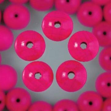 Holzperlen pink Bohr ø 3,0 mm 14 mm 20 Stk.