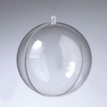 Kunststoffkugel glasklar teilbar (PS) 120 mm