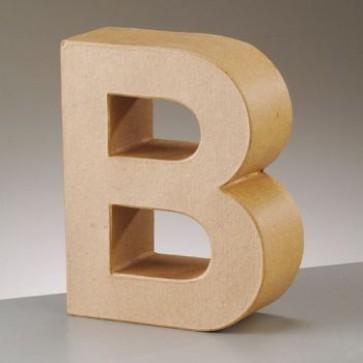 Pappbuchstabe B H 17,5 x B 14 x T 5,5 cm