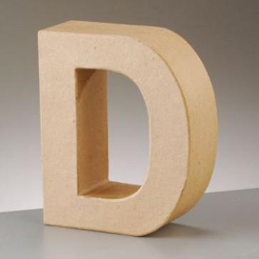 Pappbuchstabe D H 17,5 x B 14,5 x T 5,5 cm