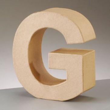 Pappbuchstabe G H 17,5 x B 15,7 x T 5,5 cm