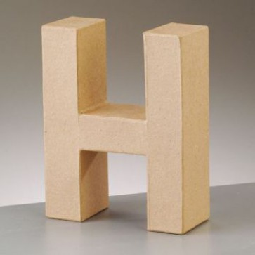 Pappbuchstabe H H 17,5 x B 13,8 x T 5,5 cm