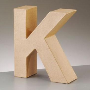 Pappbuchstabe K H 17,5 x B 15,2 x T 5,5 cm