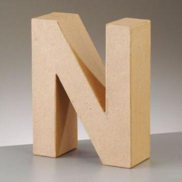 Pappbuchstabe N H 17,5 x B 13,8 x T 5,5 cm