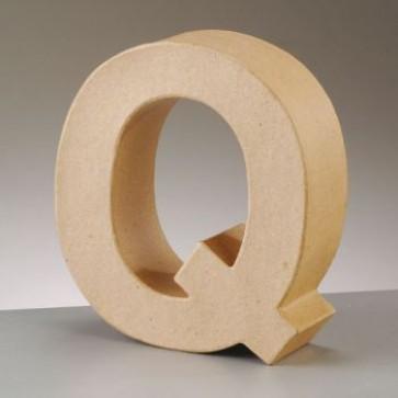 Pappbuchstabe Q H 17,5 x B 16 x T 5,5 cm