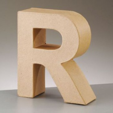Pappbuchstabe R H 17,5 x B 15 x T 5,5 cm