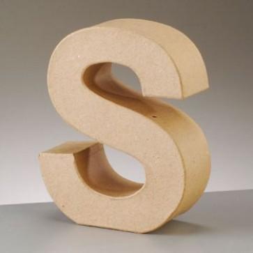 Pappbuchstabe S H 17,5 x B 13,8 x T 5,5 cm