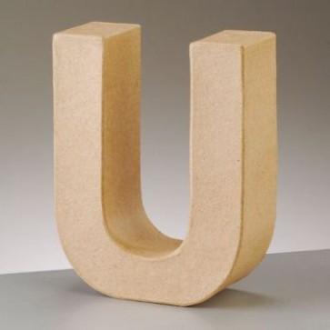 Pappbuchstabe U H 17,5 x B 13,7 x T 5,5 cm