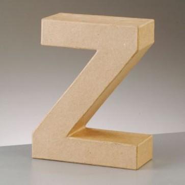 Pappbuchstabe Z H 17,5 x B 13,7 x T 5,5 cm
