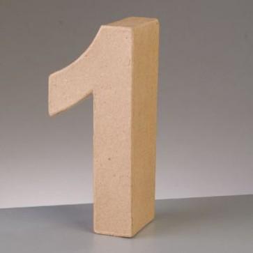 Pappzahl - 1 - H 10 x B 4,5 x T 3 cm