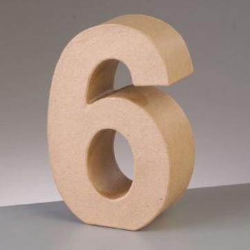 Pappzahl - 6 - H 10 x B 6,6 x T 3 cm