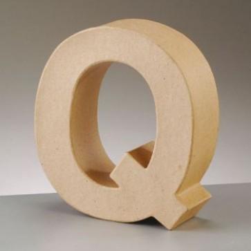 Pappbuchstabe Q H 10 x B 9 x T 3 cm