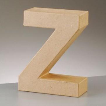 Pappbuchstabe Z H 10 x B 8 x T 3 cm