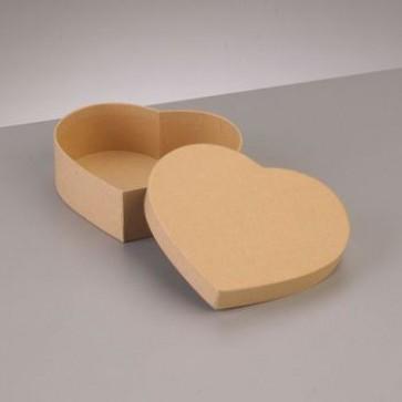 Box Herz flach 12,5 x 11 x H 4 cm
