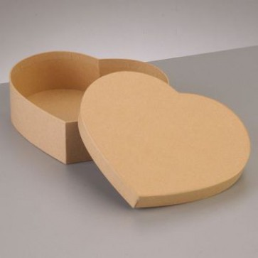Box Herz flach 16,5 x 14 x H 5 cm