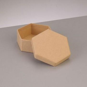 Box Sechseck flach 8,5 x 8,5 x H 3,1 cm