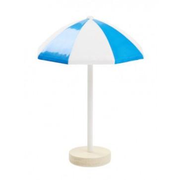 Sonnenschirm 6cm Kunststoff blau/weiss