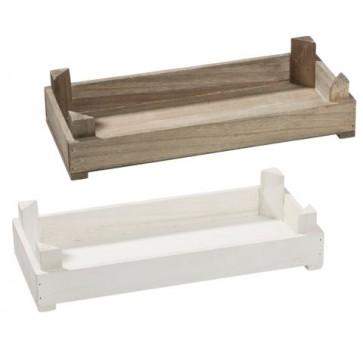 Holztablett Basic 35x15x8cm weiß