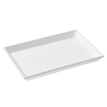 Tablett rechteckig weiß ca. 24x16,5x3cm
