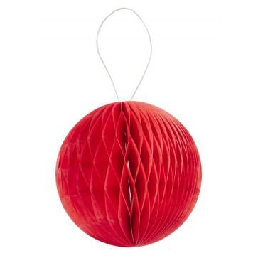 3 D-Wabenball aus Papier, 15 cm, rot, Btl. a 2 St.