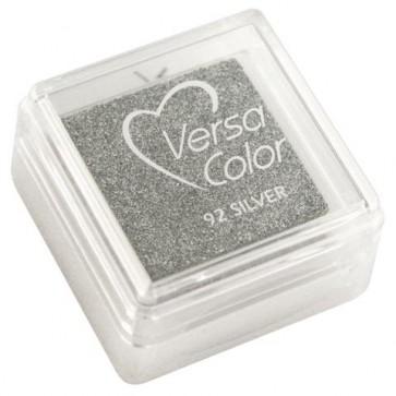 Stempelkissen  Versacolor , brill.silber, Stempelfläche 2,5x2,5 cm