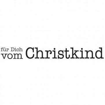 Holz-Stempel  für Dich vom Christkind , 1x6cm