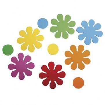 Crepla Stanzteile Blumen, bunt, 5,5cm, selbstklebend, SB-Btl 40Stück