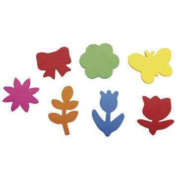 Crepla Stanzteile Frühlingserwachen, bunt, 2,1-3,4cm,selbstklebend, SB-Btl 100Stück
