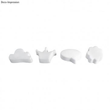 Gießform: Wolke,Krone,Sprechblase,Blume