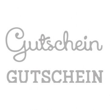 Stanzschabl. Set:  Gutschein , 2,5-7cm, SB-Btl 2Stück
