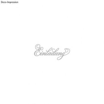 Stanzschablone:   Einladung  , 12,1x5,3cm, SB-Btl 1Stück
