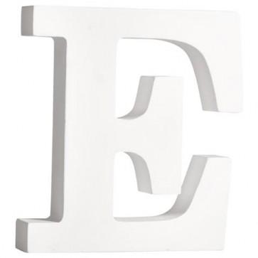 MDF- Buchstabe  E , weiß, 11cm, Stärke 2cm