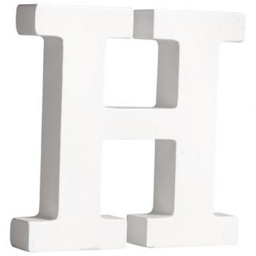 MDF- Buchstabe  H , weiß, 11cm, Stärke 2cm