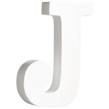 MDF- Buchstabe  J , weiß, 11cm, Stärke 2cm