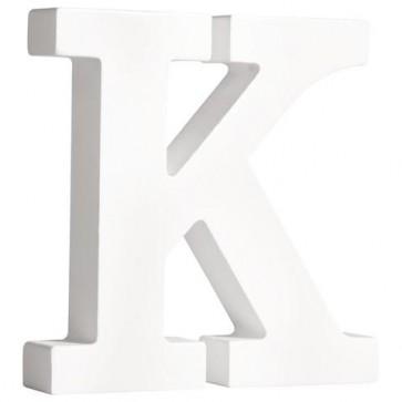MDF- Buchstabe  K , weiß, 11cm, Stärke 2cm