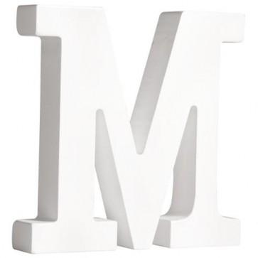 MDF- Buchstabe   M  , weiß, 11cm, Stärke 2cm