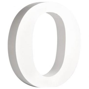 MDF- Buchstabe   O  , weiß, 11cm, Stärke 2cm