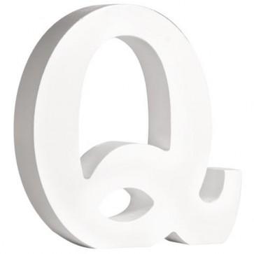MDF- Buchstabe   Q  , weiß, 11cm, Stärke 2cm