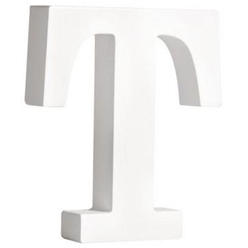 MDF- Buchstabe   T  , weiß, 11cm, Stärke 2cm