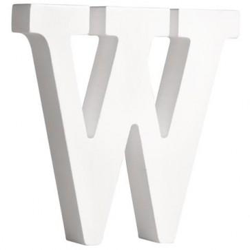 MDF- Buchstabe   W  , weiß, 11cm, Stärke 2cm